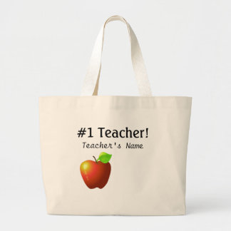Profesor del número uno bolsa tela grande