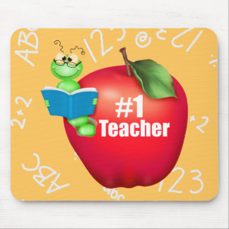 Profesor del número uno mouse pads