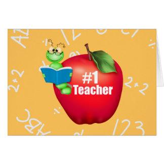 Profesor del número uno tarjeta de felicitación