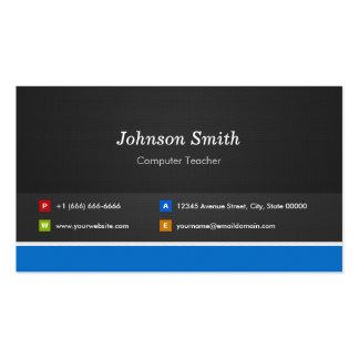 Profesor del ordenador - personalizable profesiona tarjetas de visita