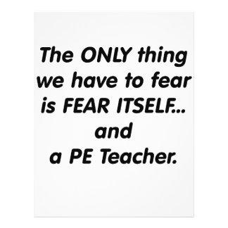 Profesor del PE del miedo Tarjetones