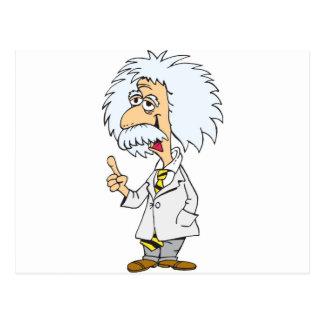 Profesor del personaje de dibujos animados postal