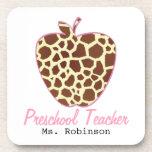 Profesor del preescolar de Apple del estampado de  Posavaso