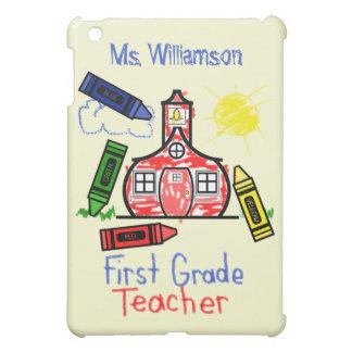 Profesor del primer grado - dibujo de creyón