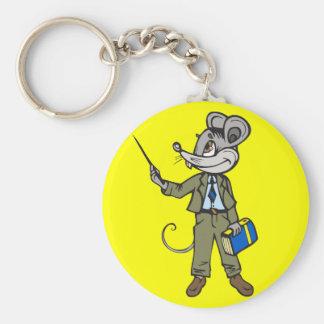 Profesor del ratón llaveros personalizados