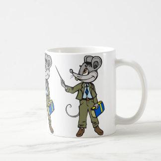 Profesor del ratón taza básica blanca