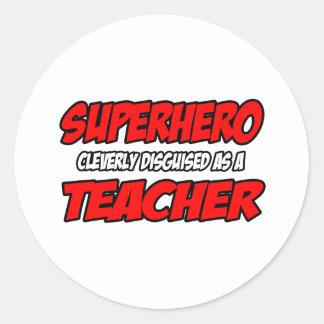 Profesor del super héroe… etiquetas