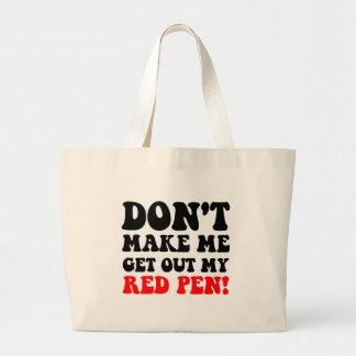 Profesor divertido bolsas de mano