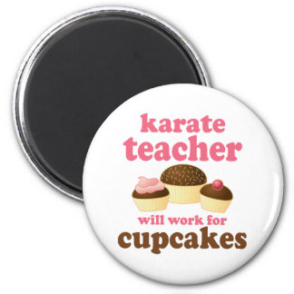 Profesor divertido del karate imán para frigorifico