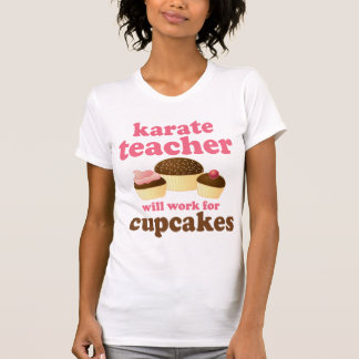 Profesor divertido del karate playera