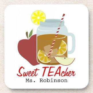 Profesor dulce posavasos de bebida