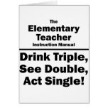 profesor elemental tarjeta