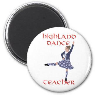 Profesor escocés de la danza de la montaña imán redondo 5 cm
