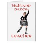 Profesor escocés de la danza de la montaña tarjetas