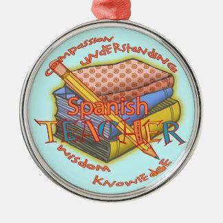 Profesor español adornos de navidad