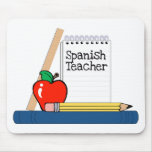 Profesor español (cuaderno) tapete de ratones