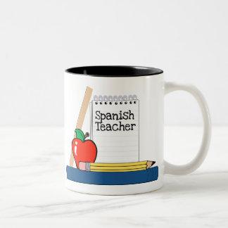 Profesor español (cuaderno) taza dos tonos