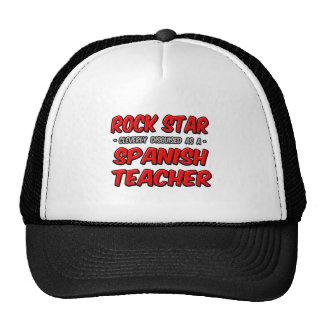 Profesor español de la estrella del rock… gorro de camionero