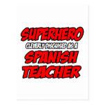 Profesor español del super héroe… tarjeta postal