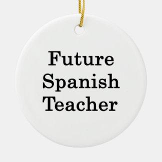Profesor español futuro ornamento para arbol de navidad