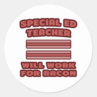 Profesor especial de Ed Trabajará para el tocino Etiqueta Redonda
