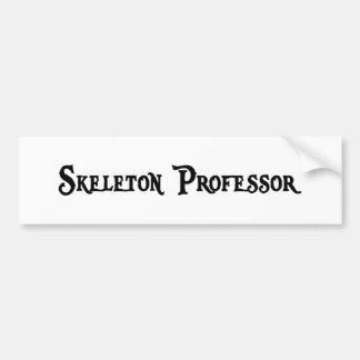 Profesor esquelético pegatina para el parachoques pegatina para auto