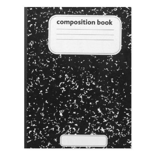 Profesor estudiante del libro de la composición postal