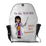 Profesor estupendo bolsas de mensajería