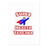 Profesor estupendo de la salud tarjeta postal