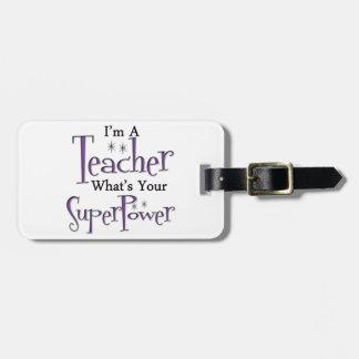 Profesor estupendo etiquetas para maletas