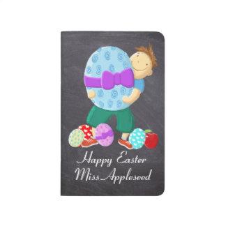 Profesor feliz personalizado de Pascua Cuaderno Grapado