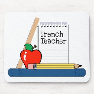 Profesor francés cuaderno tapete de ratones