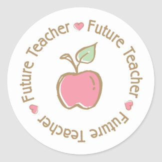 Profesor futuro Apple Etiquetas Redondas