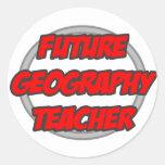 Profesor futuro de la geografía pegatina