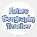 Profesor futuro de la geografía pegatinas