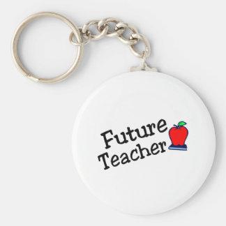 Profesor futuro llavero redondo tipo pin
