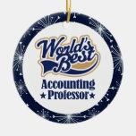 Profesor Gift Ornament de la contabilidad Adornos De Navidad