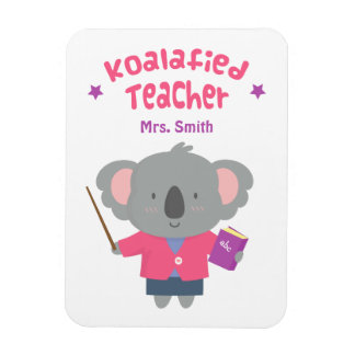 Profesor graciosamente lindo del oso de koala del imán de vinilo
