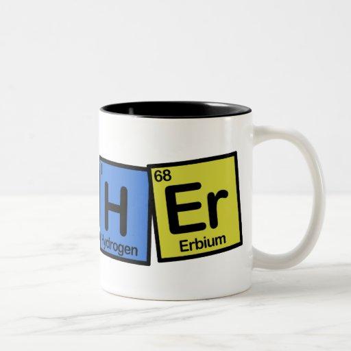 Profesor hecho de elementos caprichoso taza