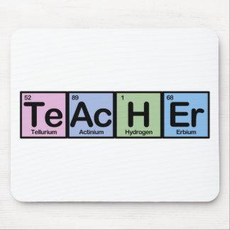 Profesor hecho de elementos mousepads