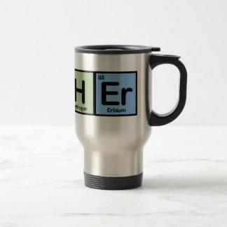 Profesor hecho de elementos taza de viaje de acero inoxidable