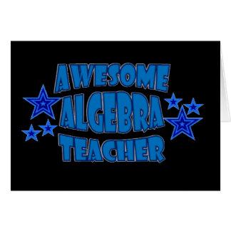 Profesor impresionante de la álgebra tarjeta de felicitación