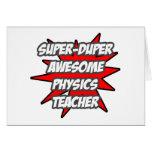 Profesor impresionante estupendo de la física de D Tarjeta