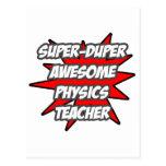 Profesor impresionante estupendo de la física de D Postales