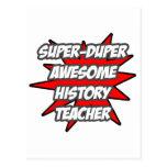 Profesor impresionante estupendo de la historia de postal