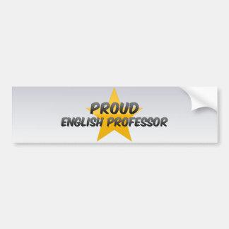 Profesor inglés orgulloso pegatina de parachoque