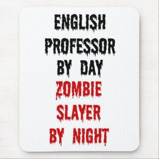 Profesor inglés Zombie Slayer Mouse Pads