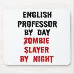 Profesor inglés Zombie Slayer Alfombrillas De Raton