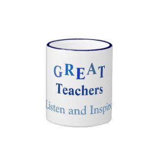 Profesor inspirador taza a dos colores