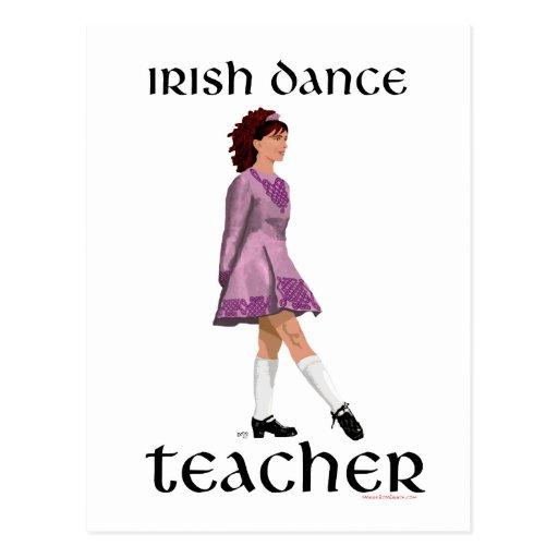 Profesor irlandés de la danza del paso - rosa tarjetas postales